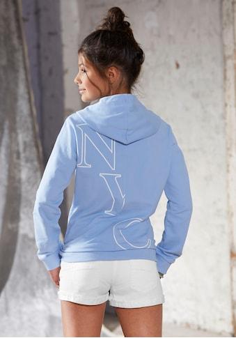 Arizona Kapuzensweatshirt, mit modischem Rückendruck kaufen