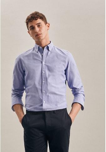 seidensticker Businesshemd »Slim«, Slim Langarm Button-Down-Kragen Uni kaufen