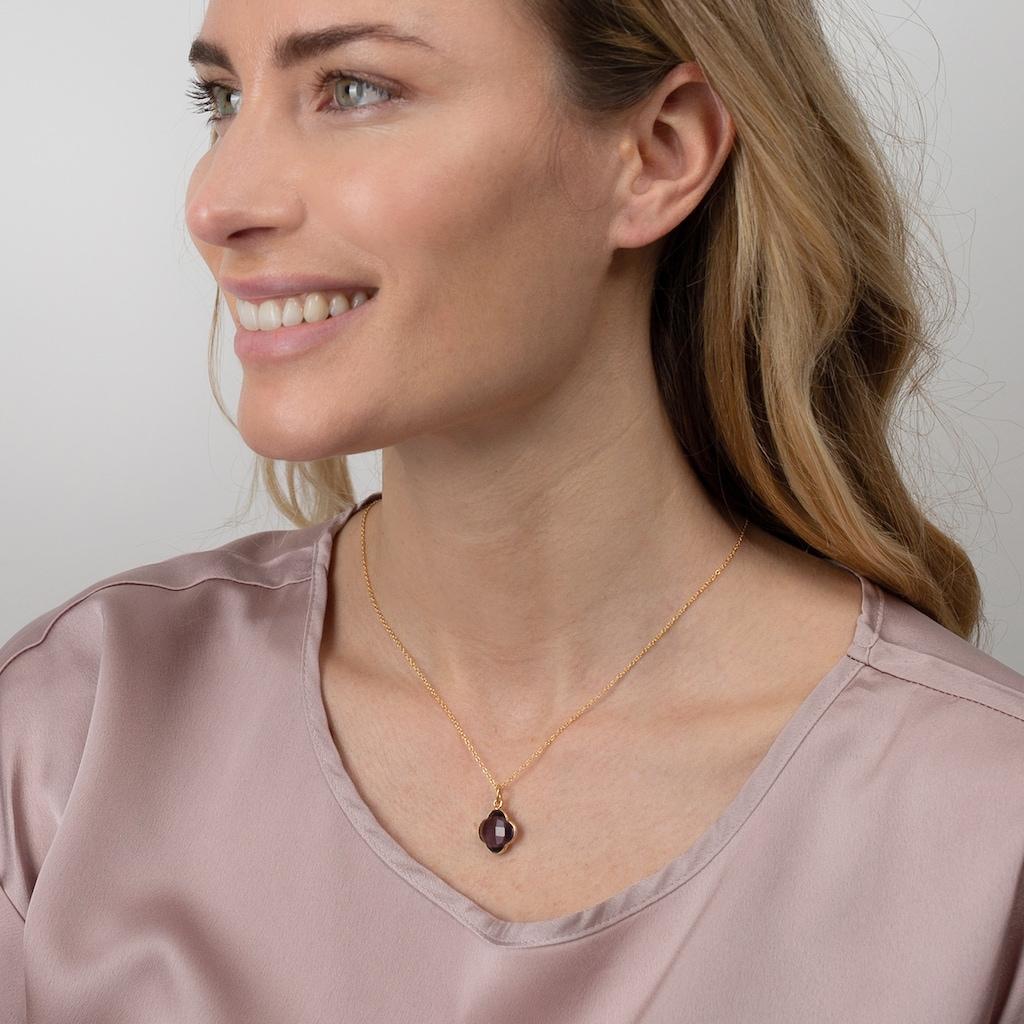 AILORIA Kette mit Anhänger »CAPUCINE Halskette mit Edelstein«, aus 925 Sterling Silver