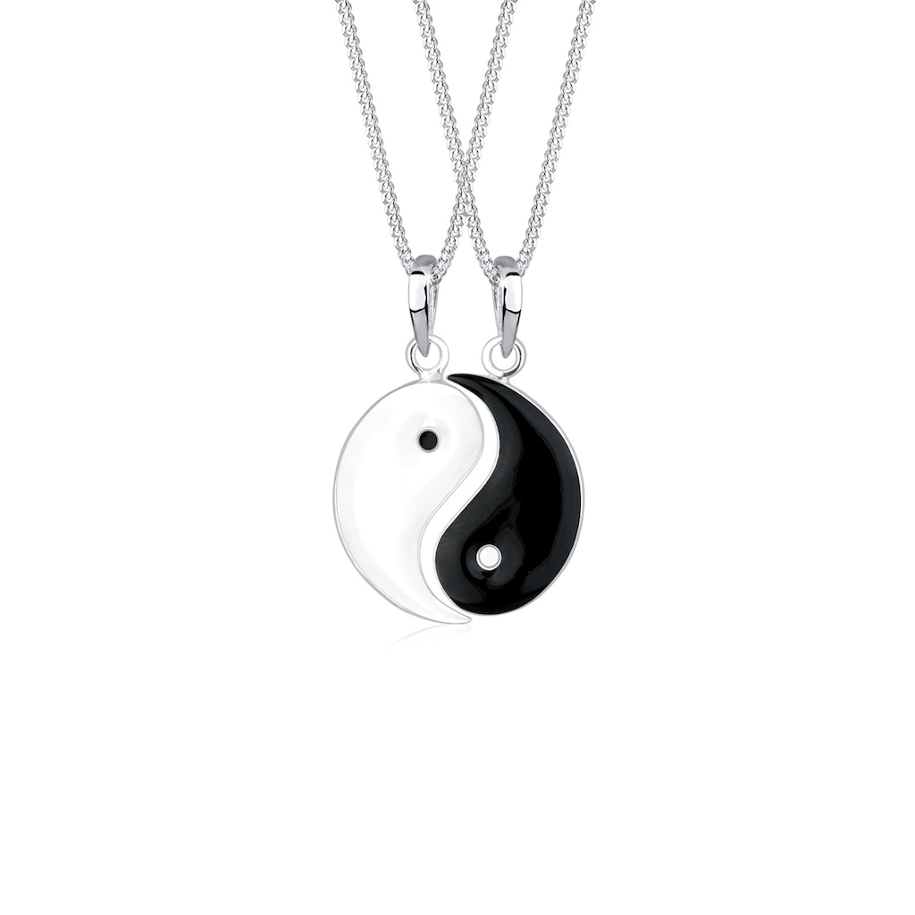 Elli Ketten-Set »Partnerketten Yin Yang 925 Sterling Silber«