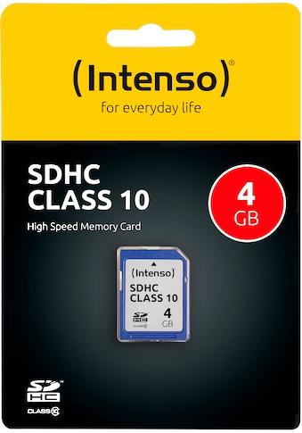 Intenso »SDHC Class 10« Speicherkarte (Lesegeschwindigkeit maximal 20 MB/s) kaufen
