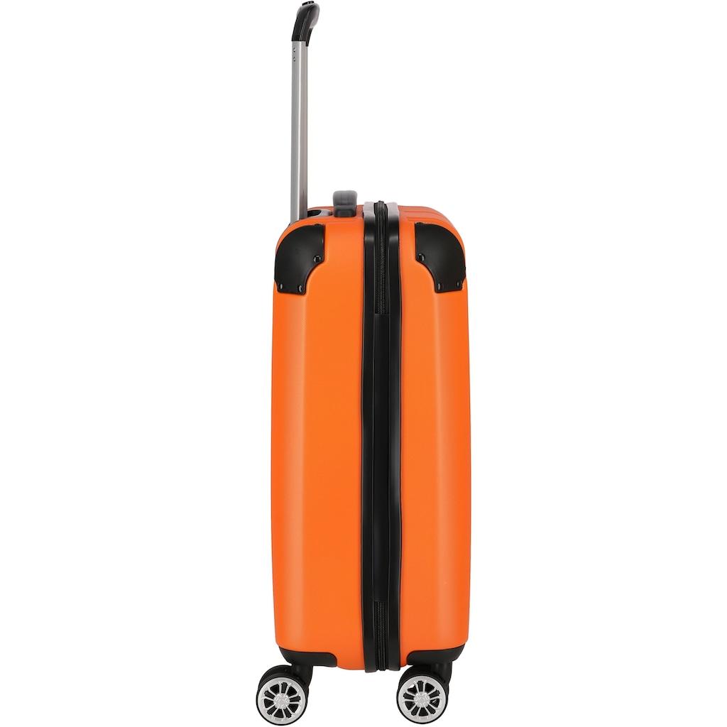 travelite Hartschalen-Trolley »City, 55 cm, orange«, 4 Rollen