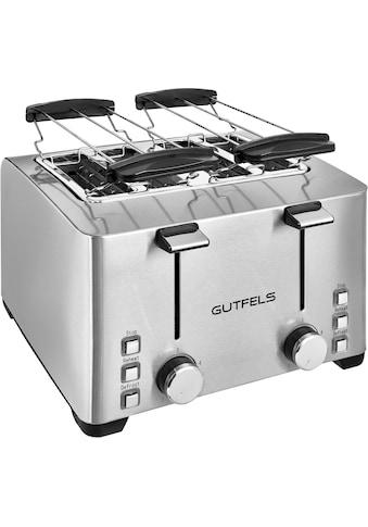 Gutfels Toaster »TA 8301 isw«, für 4 Scheiben, 1500 Watt kaufen