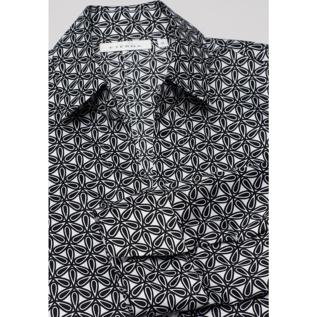 Eterna Satinbluse »MODERN CLASSIC«, Dreiviertelarm Bluse