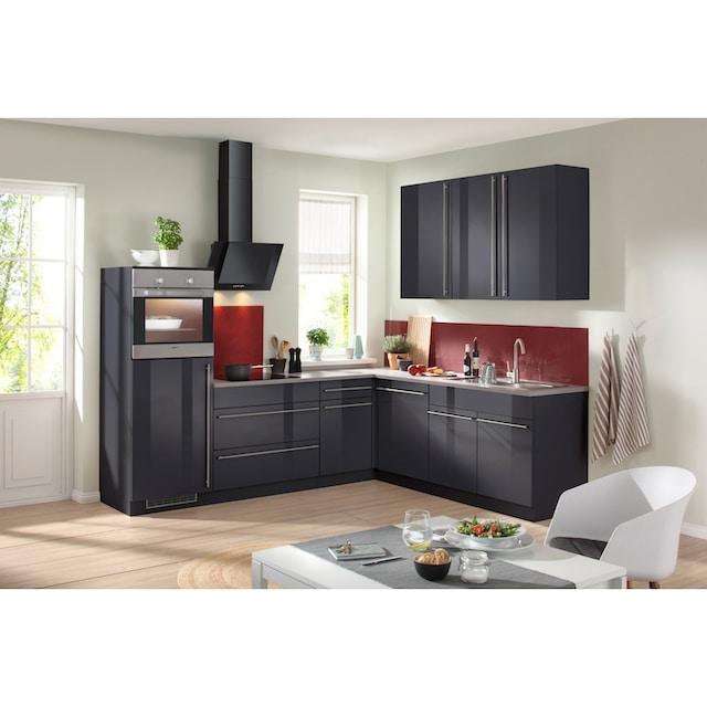 wiho Küchen Winkelküche »Chicago«, mit E-Geräten, 260 x 220 cm
