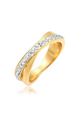 Elli Fingerring »Wickelring Zart Kristalle 925 Silber« kaufen