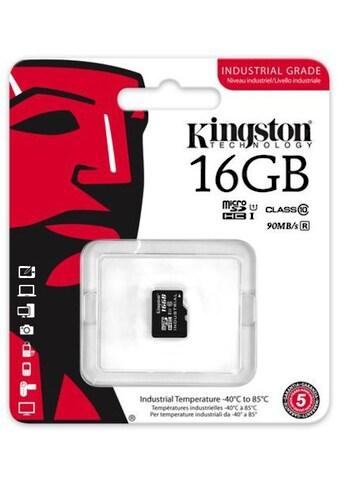 Kingston Speicherkarte »microSDHC Industrial Temp UHS - 1 ohne Adapter, 16GB« kaufen