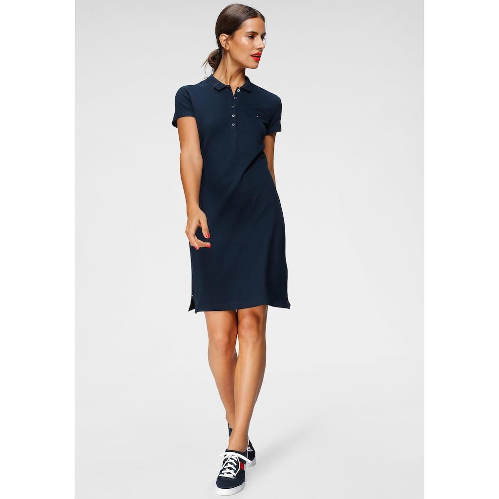 Tommy Hilfiger Jerseykleid »HERITAGE SLIM POLO DRESS«, mit Branding Knöpfen & Tommy Hilfiger Logo-Flag