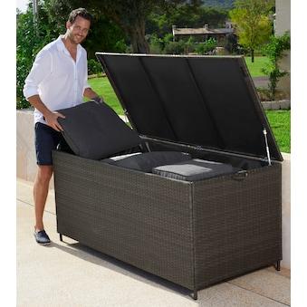 GARTEN GUT Auflagenbox »Santorini«, 165x76 cm, Polyrattan, braun kaufen