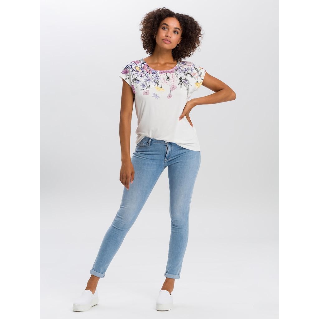 Cross Jeans® T-Shirt »55735«, Floral Frontprint