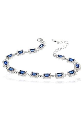 goldmaid Damenarmband 925 Silber mit blauen Zirkonia kaufen