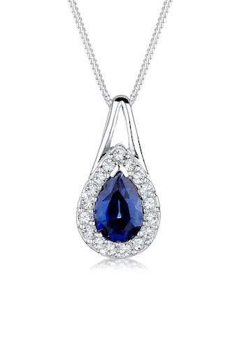 Elli Collierkettchen »Tropfen Saphir Kristalle 925 Silber« kaufen