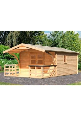 Karibu Gartenhaus »Meldorf 6«, mit Vordach und Terrasse kaufen