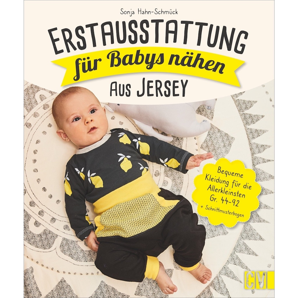 Buch »Erstausstattung für Babys nähen - aus Jersey / Sonja Hahn-Schmück«