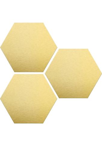 Wall-Art Alu-Dibond-Druck »Goldeffekt«, (Set) kaufen