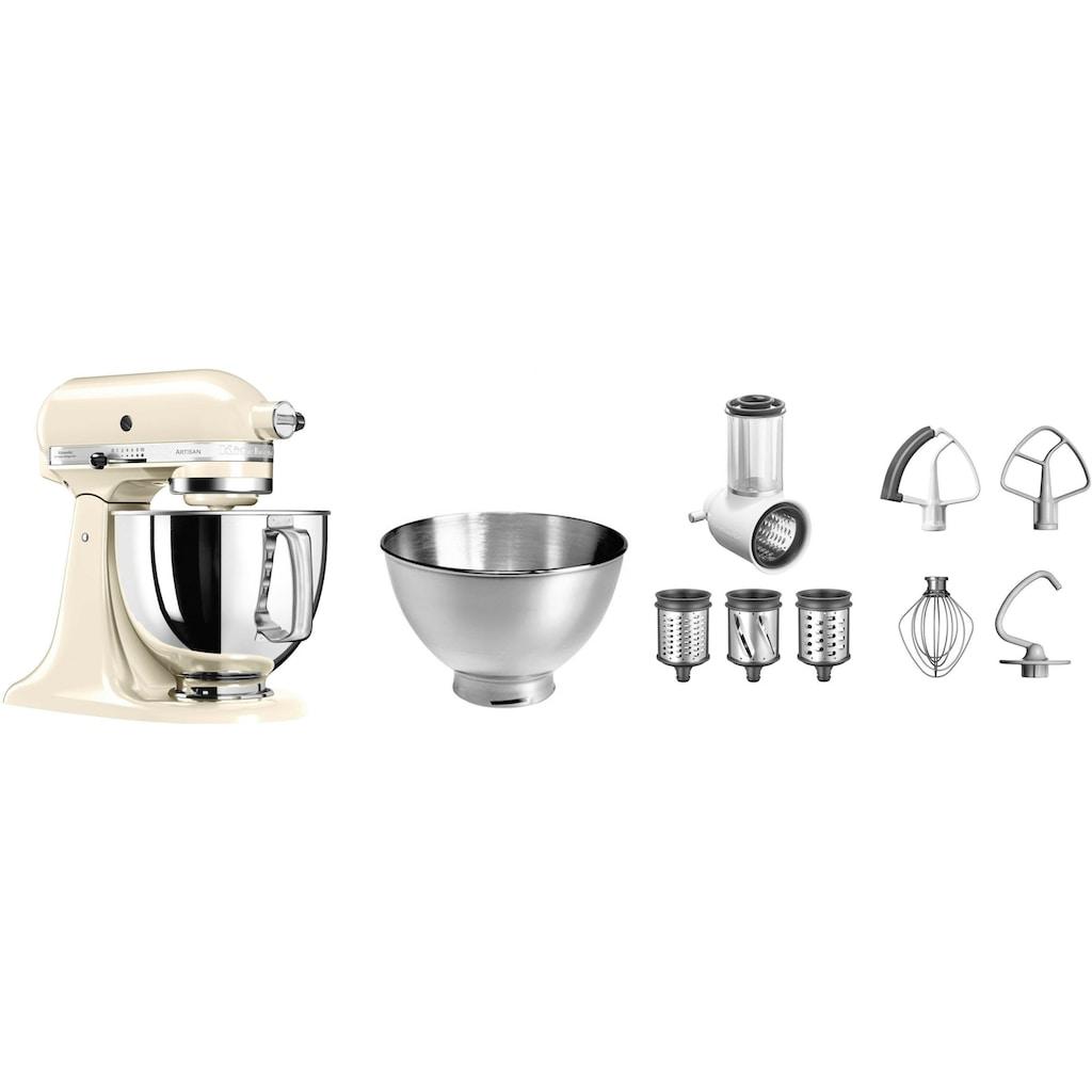 KitchenAid Küchenmaschine »Artisan 5KSM175PSEAC«, 300 W, 4,8 l Schüssel, mit Gratis Gemüseschneider und 3 Trommeln