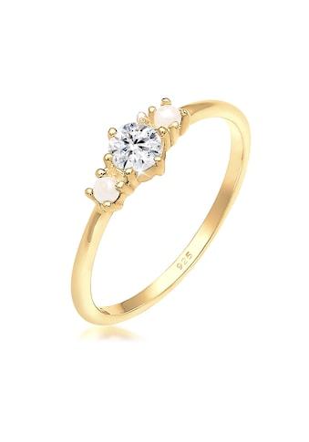 Elli Fingerring »Bandring Synthetische Perlen 925er Silber« kaufen