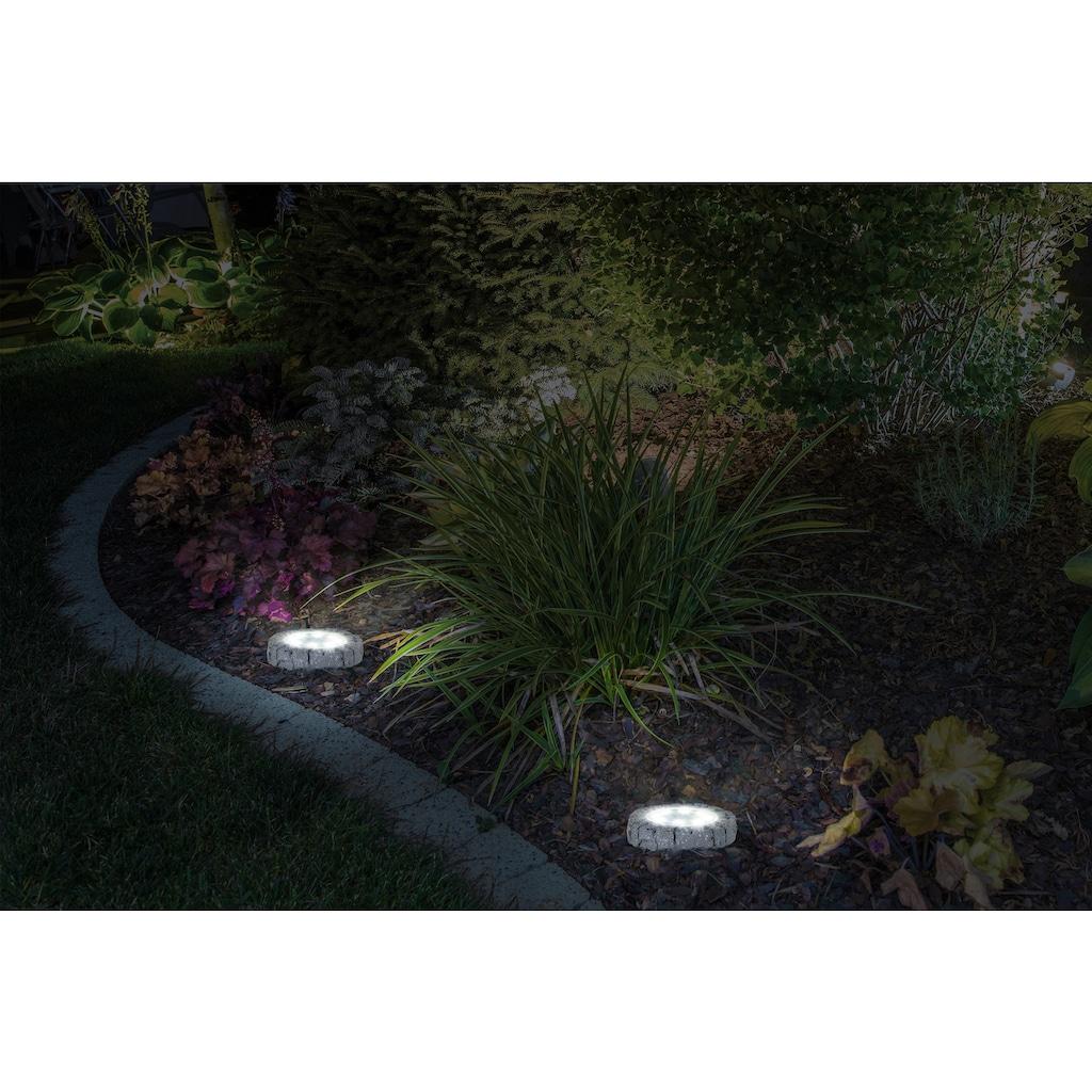 näve LED Gartenleuchte »Kian«, LED-Modul, 6 St., Warmweiß, LED Solar-Boden-Erdspieß, 6er Set
