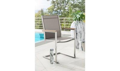 Gartenstuhl »MACAO«, Textil/Edelstahl, stapelbar, inkl. Auflage kaufen