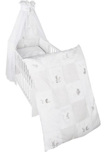 roba® Himmelbettgarnitur »Fox & Bunny«, 4-tlg., mit Bettwäsche, Nestchen und Himmel kaufen