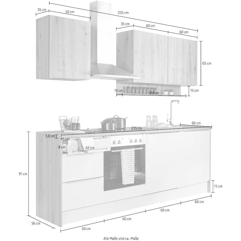 set one by Musterring Küchenzeile »Nashville«, (Set), ohne E-Geräte, Breite 235 cm