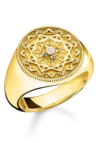 """THOMAS SABO Diamantring »Ring """"Vintage Kompass gold"""", D_TR0042 - 924 - 14 - 48, 50, 52, 54, 56, 58, 60« kaufen"""