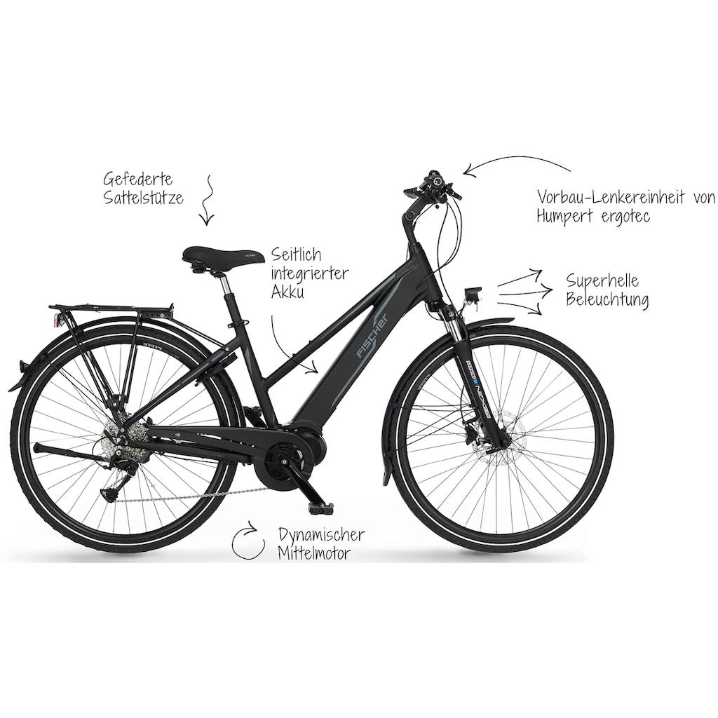 FISCHER Fahrräder E-Bike »VIATOR D 4.0i - 504«, 9 Gang, Shimano, Acera, Mittelmotor 250 W