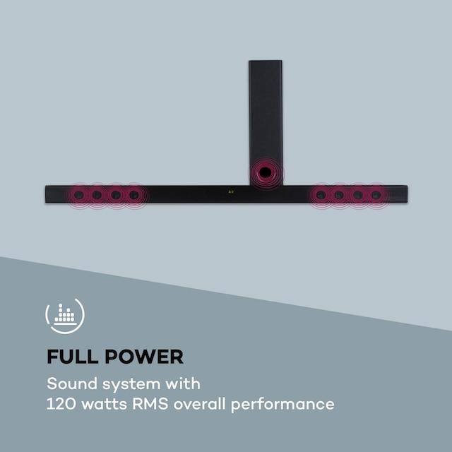 Auna 2.1 Sound System Soundbar 120W RMS-Leistung B »Areal-Bar«
