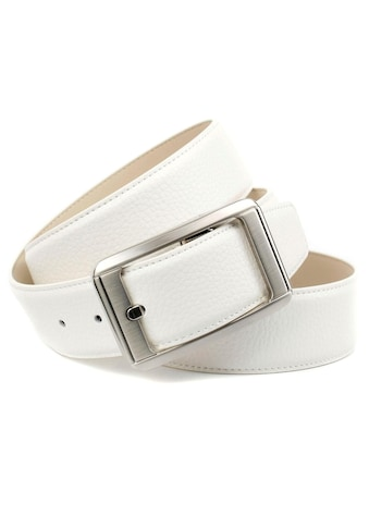 Anthoni Crown Ledergürtel, Jeansgürtel in weiß kaufen