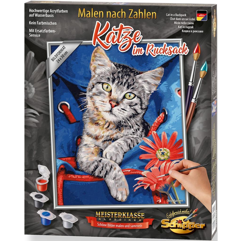 Schipper Malen nach Zahlen »Meisterklasse Klassiker - Katze im Rucksack«, Made in Germany