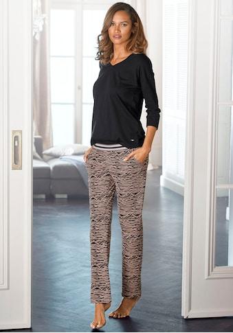 s.Oliver Pyjama, lange Hose mit Animal-Print kaufen