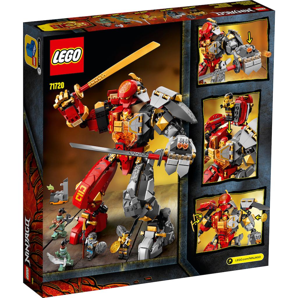LEGO® Konstruktionsspielsteine »Feuer-Stein-Mech (71720), LEGO® NINJAGO®«, (968 St.), Made in Europe