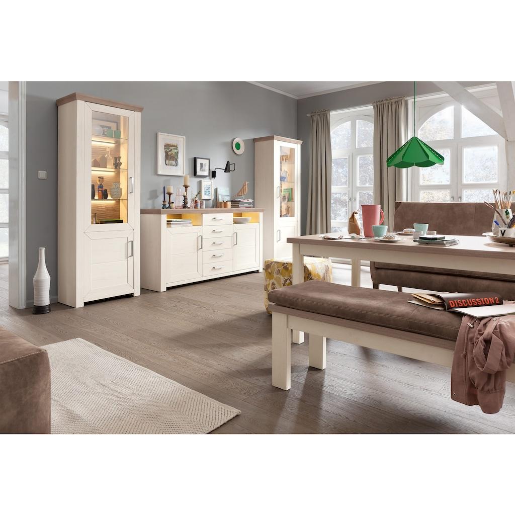 set one by Musterring Wohnwand »york«, (Set, 3 St.), Kombi 5, im Landhaus Stil