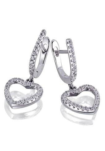 goldmaid Paar Ohrhänger, Love You 925 Sterlingsilber 68 weiße Zirkonia kaufen