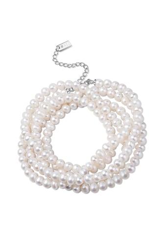AILORIA Armband »MOE Armband-Halskette Silber/weiße Perle«, Größenverstellbar kaufen