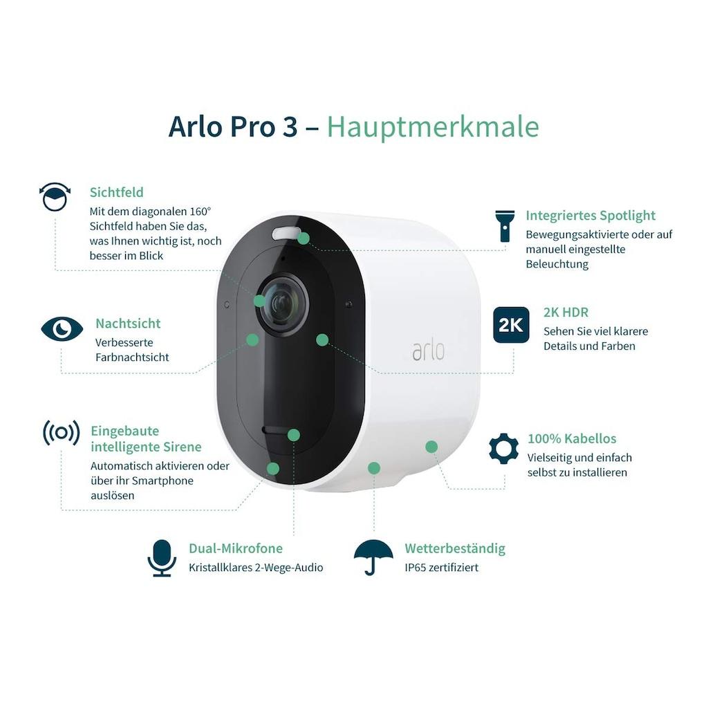 ARLO Pro 3 Sicherheitssystem mit 2 Kameras