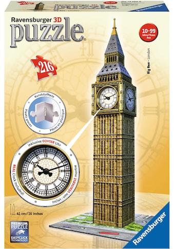 """Ravensburger 3D - Puzzle """"Big Ben mit Uhr"""" kaufen"""