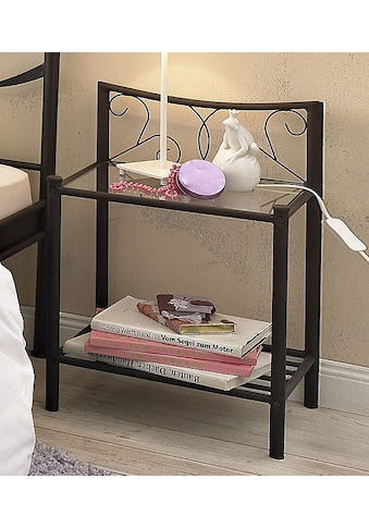 Home affaire Nachttisch »Princess«, aus einem schönen Metallgestell, mit besonders... kaufen