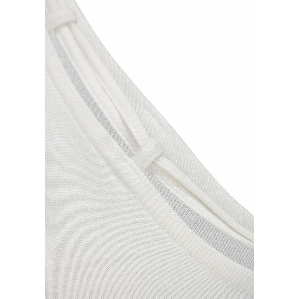 s.Oliver T-Shirt, mit Zierbändern am Ausschnitt