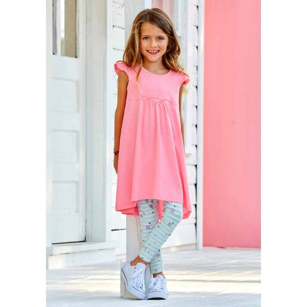 KIDSWORLD Kleid & Leggings, niedlich gemustert