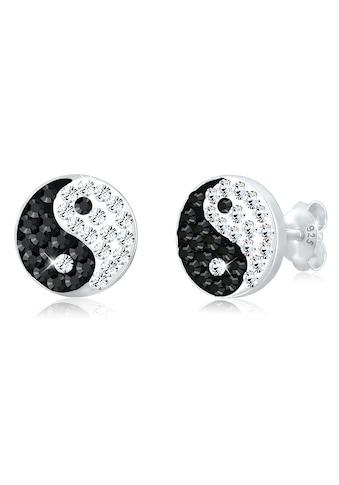 Elli Paar Ohrstecker »Yin und Yang Symbol Swarovski® Kristalle Silber« kaufen