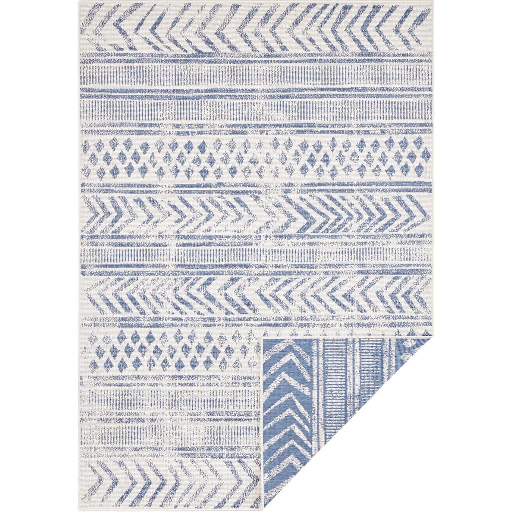 bougari Teppich »BIRI«, rechteckig, 5 mm Höhe, In- und Outdoor geeignet, Wendeteppich, Wohnzimmer