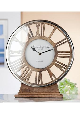 GILDE Standuhr »Uhr Negro«, Höhe 34 cm, rund, römische Zahlen, Wohnzimmer kaufen