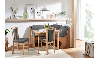 SCHÖSSWENDER Eckbankgruppe »Jena«, (Set, 5 tlg.), Klassisches Design, stabiles... kaufen