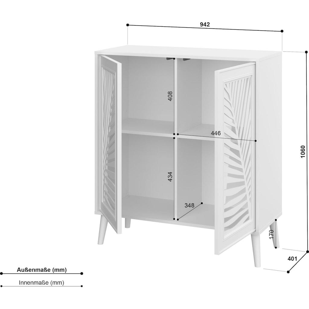 Home affaire Kommode »Tropikal«, im außergewöhnlichen Design