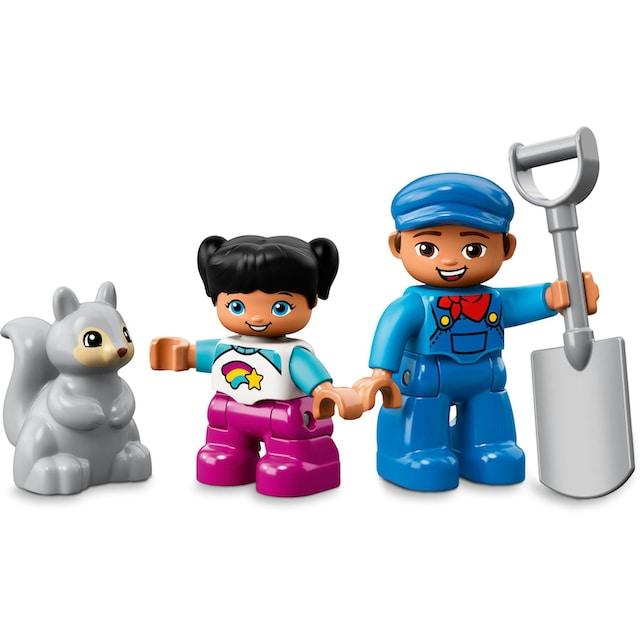 """LEGO® Konstruktionsspielsteine """"Dampfeisenbahn (10874), LEGO® DUPLO® Town"""", Kunststoff, (59-tlg.)"""