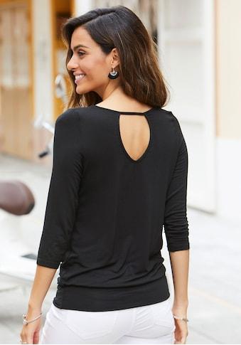 LASCANA 3/4-Arm-Shirt, mit Cut-Out im Nacken kaufen