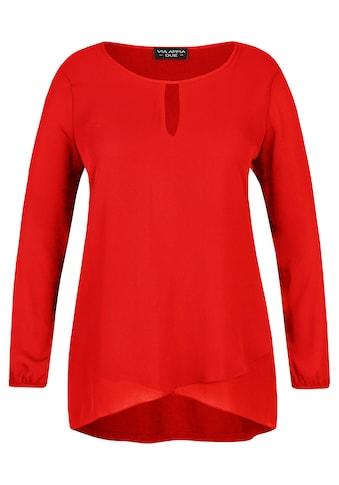 VIA APPIA DUE Raffinierte Bluse mit V - Detail Plus Size kaufen