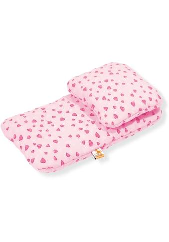 Pinolino® Puppen Bettwäsche »Herzchen, rosa«, Made in Europe kaufen