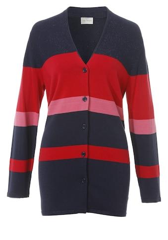 VIA APPIA Modische Strick - Jacke mit Materialstruktur - Mix kaufen